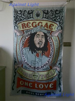 Wholesale BOB Marley Poster Flag x cm Polyester Hippie Band Smoking Herb Reggae Rasta Music Festival Wall Hanging Fabric Banner