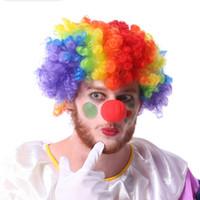 ingrosso decorazioni per la festa di mascherata rossa-Divertente 50 Pz / lotto Spugna Palla Rosso Pagliaccio Naso Magico Scherzi Giocattoli per la Festa Nuziale Chritmas Halloween Masquerade Decorazione