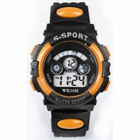 Wholesale Best Quality Wrist Watch - Best Quality Waterproof Children Boy Digital LED Quartz Alarm Date Sports Wrist Men Women Watch Perfect Gift Dec30 H0