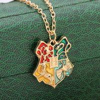 Wholesale Harry Potter Necklaces - Wholesale- Hot salling Fashion jewelry Harry Magic School Badge Potter Necklace