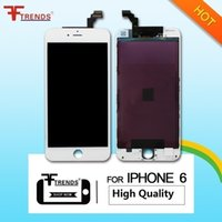 Alta Qualidade para iPhone 6 LCD Display Touch Screen Digitizer Full Assembléia Branco Preto Replacement Repair Parts 100% Testado DHL EMS Ship