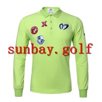 T-SHIRTS GOLF PEARLY GATES GOLF OUTDOOR ABBIGLIAMENTO CLUBS PG CLOTHING cotone LONG T-SHIRT T-SHIRT PER TAGLIE UOMO