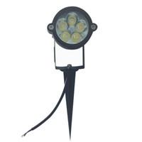 Wholesale Day Light 5w - 5W Outdoor LED Spike Light AC85-265V Or 12V Ground Spike Light IP65 LED Lawn Garden Lamp For Christmas Day