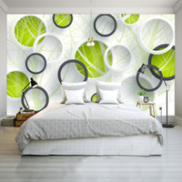 Wholesale Modern Abstract Painting Tree - Custom Photo Wall Mural Abstract Tree 3D Circles Living Room Sofa TV Background Wallspaper Modern Art Painting Mural Wallpapers