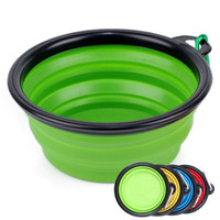 Wholesale Cat Feeding - Collapsible Silicone Dog Feeding Bowls,Portable Dogs Cat Food Water Feeder Hot Pet Supplies Travel Bowls