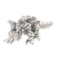 Wholesale 3d Puzzles Dinosaurs - 3D Metal Puzzle Dinosaur Locke DIY Assembly Model Kids Stainless Steel Laser Cutting Animals Jigsaw Toys Juguetes Educativos
