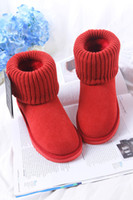 Wholesale dark brown knee boots - Free delivery of new fashion classic 2017 high quality WGG women's classic boots snow boots winter boot