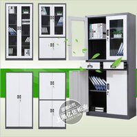 case office furniture - Custom iron case File cabinet Data frame Office furniture Organic glass locker Office cabinetd rawer