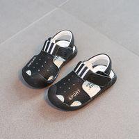 Wholesale Boys Korean Shoes - Boys sandals 2017 summer style new leather, big boy sandals, boys beach shoes, soft soles, Korean tide
