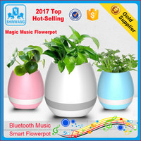 Wholesale Music Flowerpot Smart Touch Music Plant Lamp Rechargeable Wireless Play Piano on a Real Plant Musical Boxes Bluetooth Speaker Night Light
