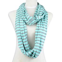 Wholesale Selling Infinity Necklace - Hot selling long chain necklace infinity scarf for women Stripe cycle chevron infinity zebra candy color polyester scarf , NL-2002