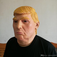 Wholesale Donald Trump Overhead Mask Props Funny Latex Party Masks Carnival Celebrity Billionaire Cosplay Masquerade Costume Trump Mask