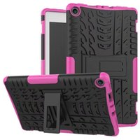 Wholesale Fire Resistant Plastic - Kickstand Hybrid Cases Shockproof TPU PC Defender Hard Back Cover For Samsung Tab A 2016 10.1 T580 P585 P580 Kindle Fire HD 7 8 2015 2017