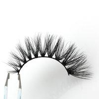 Wholesale Logo 15mm - Length 13-15mm OEM&Private Logo Acceptable Natural 3D Mink Hair Fur Eyelashes Messy Eye lash Extension Sexy Eyelash Crossing Eye Lashes EF8