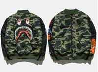Wholesale Ovo Jacket - Mens Sportwear Coat Jogger Tracksuit camouflage Down Jackets Crewneck Bird OVO Drake Black Hip Hop baseball MLB Hoodie Men Shark mouth print
