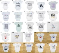 Wholesale Wholesale Character Onesies - 2017 Boys Girls Baby Rompers Summer Short Sleeve Newborn Onesies Clothing Letters Toddler Romper Cotton Infant Bodysuit Boutique Clothes
