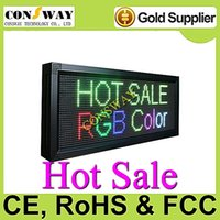 Wholesale Plastic Advertising Signs - Free shipping and CE approved advertising led shop display sign with RGB and size 1040*400mm