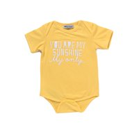Wholesale Girls Shorts Only - Mikrdoo Baby Boy Girl Clothes Kids Short Sleeve Romper Infant Yellow Toddler Set You Are My Sunshine Only Letters Printed Clothing Hot Tops