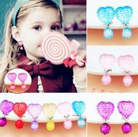 Wholesale Wholesales Clip Baby Earrings - Hot Sale Children's Cute Design Jewelry Baby girl's Brand earrings Girl's Party ear clips Child Dangle Earring kids drop earrings CK405