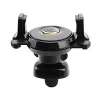 Wholesale Auto Vents - Mini 360 Rotating Auto Clip Car Air Vent Mechanical Mobile Phone Holder 360 Adjustable Mount Stand For Samsung GPS iPhone