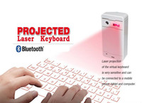 Wholesale Mini Portable Projection - Mini Wireless Laser Keyboard Portable Virtual Bluetooth Laser Projection Keyboard with Mouse Function for Android iPhone Tablet Laptop K01