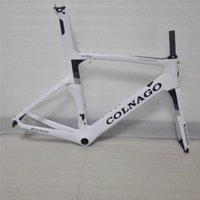 Wholesale Taiwan Road Bike Frames - Concept team use frame taiwan made carbon road bike frame +seat post+fork+headset+clamp XXS XS S M L XL 1020+ -40g (Size XS)