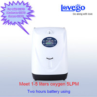 oxygen cart - 2016 Newest mini portable oxygen concentrator with portable cart Battery operated Lovego G2 settings equal to LPM
