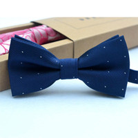 Wholesale Checked Shirts Ties - Wholesale- Children Bow Tie Baby Boy Kid Clothing Accessories Solid Color Gentleman Shirt Neck Tie Bowknot Dot