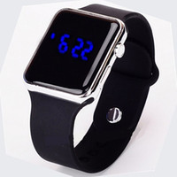 Wholesale Dhl Free Shipping Bracelet - Fashion Sport LED Watches Unisex Candy Color Alloy Touch Screen Digital Bracelet Wristwatch Free Shipping Via DHL