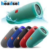 Wholesale Rechargeable Bluetooth Wireless Speaker - portable charge Fashion designed waterproof wireless Bluetooth speakers built-in 2400mAh rechargeable battery with package for smartphones