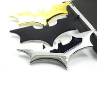 Wholesale batman car window - 3D Cool Metal bat auto car styling car stickers metal batman badge emblem tail decal motorcycle car accessories automobiles