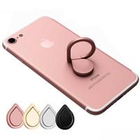 metallmagnetständer großhandel-Metall-Wasser-Tropfen-Ring-Halter-Handy-Ring-Stand 360 ° Spinner Smartphone Universal-Magnet-Halter für Iphone 6 7 Galaxy S8 S8edge