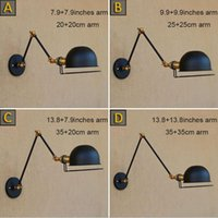 Wholesale Brass Lamp Arms - Wall Sconce Antique Brass wall Light Lamp Industrial Retro swing arm fixture modern e27 art deco wall lamp wandlamp industrieel