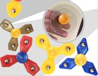 Random color sports developments - Hot Random Shapes Plastic Tri Fidget Fingertip Gyro Mixed Color Spiral Hand Spinner Development Relaxed Decompression Toy Gifts