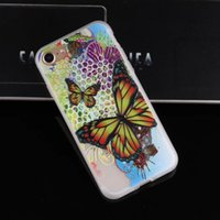 Étui à papillon pour Iphone 7 Plus 6 6S SE 5 5S Relief 3D Soft TPU Marbre Panda Elephant Wolf Tour de tournesol Unicorn Housse en gel de dessin animé