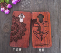 Wholesale Huawei Ascend Mate Phone Cases - Customized Design Carved Wood Bamboo Hard Back Case Real Wooden Mobile Phone Cover Waterproof For Huawei Ascend P9 Lite mate 8 9