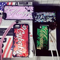 Wholesale Iphone Cover Personalized - For iphone 5 5s se 6 6s 7 plus Korea Awesome Exclusive Personalize Customize Name Moving Heart glitter soft case cover