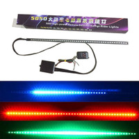 Wholesale Led Neon Kits - Car Styling Waterproof 48 LED RGB Flash Car Strobe Knight Rider Atmosphere Decorative Neon Lamp Kit Light Strip Remote Control