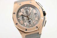 Wholesale Offshore Strap - 2017 luxury brand watch men royla oak offshore watch sports quartz chronograph Capolavoro Smoke Grey Alligator Strap men dress watches