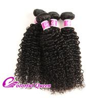 Wholesale Micro Braids Hair Extensions - 100% Unprocessed Virgin Human Hair Extensions 3pcs 4pcs Malaysian Kinky Curly Human Hair Weave for Micro Braids Malaysian Curly Hair Bundles