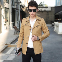 erkek pamuk rüzgarlık toptan satış-Toptan-Ucuz toptan 2016 yeni Klasik erkek rüzgarlık pamuk beyefendi erkek giyim