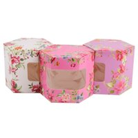 Wholesale Designing Candy Box - Customized Wedding Candy Box Creative design flower printing candy packaping paper Collect Exquisite Party Supplies Gift Wrapping high quali