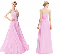 Wholesale Evening Dresses Grace Karin - Evening Dress Robe Soiree Grace Karin Crystal Beaded Pink Formal Gowns For Party Special Occasion Dress HY1373
