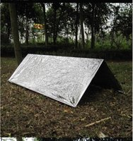 Wholesale Wholesale Military Tents - Waterproof Emergency blanket Survival Hiking pads life Rescue Solar Thermal curtain First Aid tent outdoor military blankets fast shipping