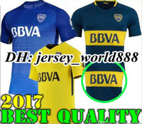 Wholesale Boca Juniors Shorts - Top Thai quality 2017 2018 Boca Juniors Soccer Jersey Home Away 3RD 17 18 Boca Juniors GAGO OSVALDO CARLITOS PEREZ P Football shirts
