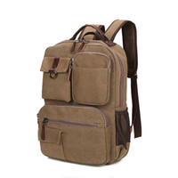 Wholesale highest quality laptop for sale - Group buy Both Shoulders Canvas Bag High Quality Washing Man Travel Knapsack Laptop Bags Classical Exquisite Workmanship Anti Crease Hot Sell jb J1