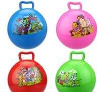 Wholesale Children S Sport Toys Wholesale - Children 's toys toys wholesale explosion thickening cartoon handle inflatable ball children' s sports toys ball