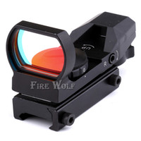 Caça 20mm / 11mm 1x22x33 Reflex Holographic 4 Reticle Red Dot Sight Escopo Picatinny Weaver Rail
