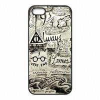 ingrosso iphone di potter-Mappa del telefono di Harry Potter Marauder Custodie Conchiglie Custodie in plastica rigida per iPhone 4 4S 5 5S SE 5C 6 6S 7 Plus ipod touch 4 5 6