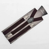 Wholesale Mens Pants Braces - Wholesale-New Skinny Adjust Unisex Pants Y-back Suspender Brace Elastic mens Ladies Clip-on